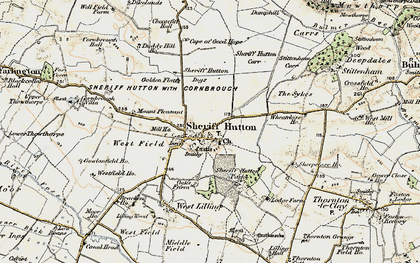 Old map of Sheriff Hutton in 1903-1904