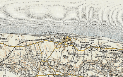 Old map of Sheringham in 1901-1902