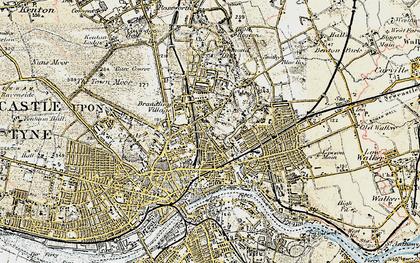 Old map of Shieldfield in 1901-1904