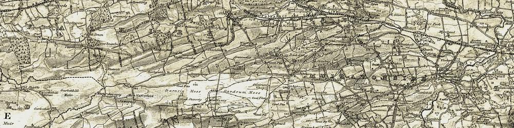 Old map of Westquarter Burn in 1904-1906