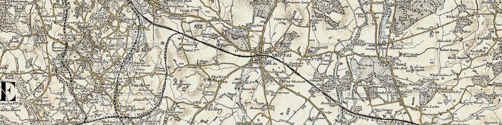 Old map of Shifnal in 1902
