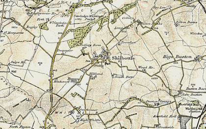 Old map of Shilbottle in 1901-1903