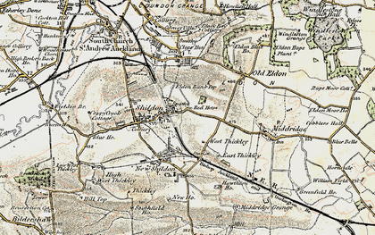 Old map of Shildon in 1903-1904