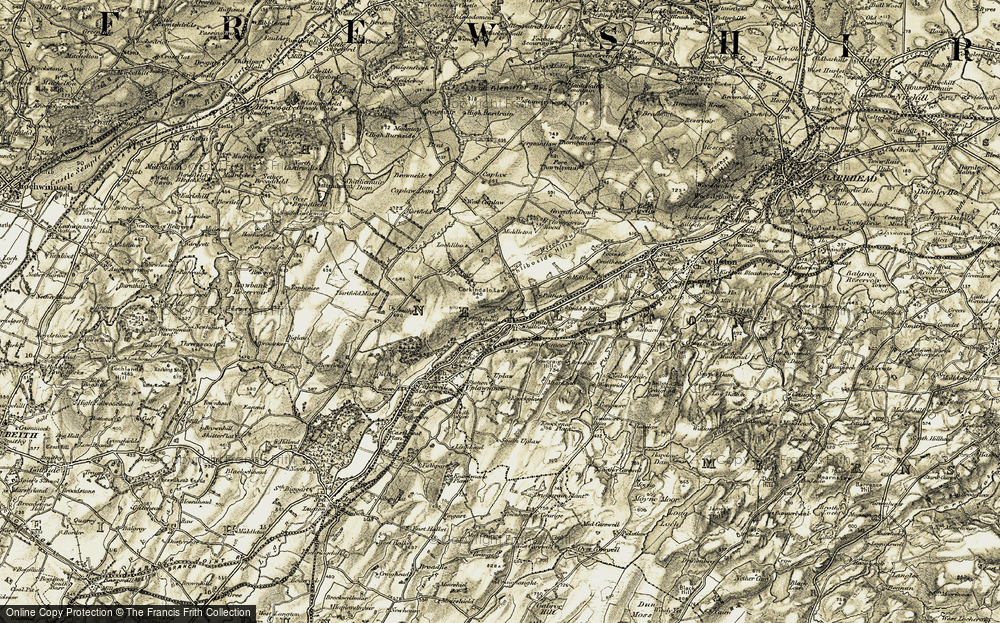 Old Map of Historic Map covering Banklug in 1905-1906
