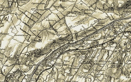 Old map of Witch Burn in 1905-1906