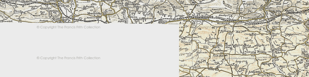 Old map of Whittenhays in 1898-1900