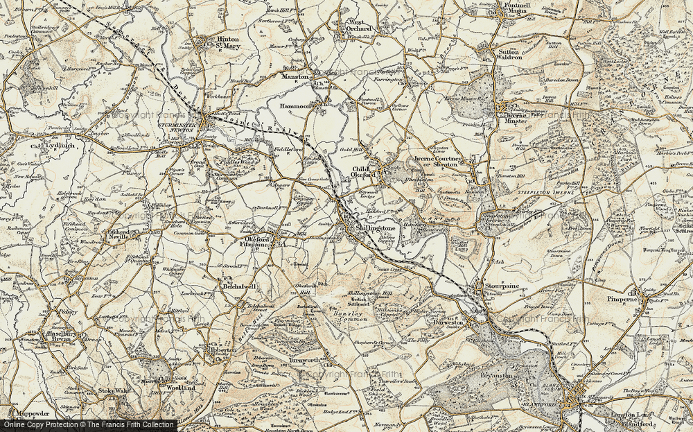 Old Map of Historic Map covering Alders Coppice in 1897-1909