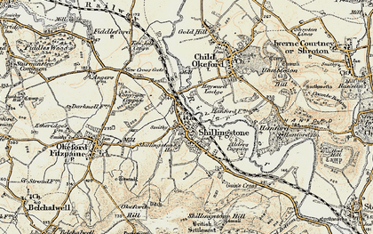 Old map of Alders Coppice in 1897-1909