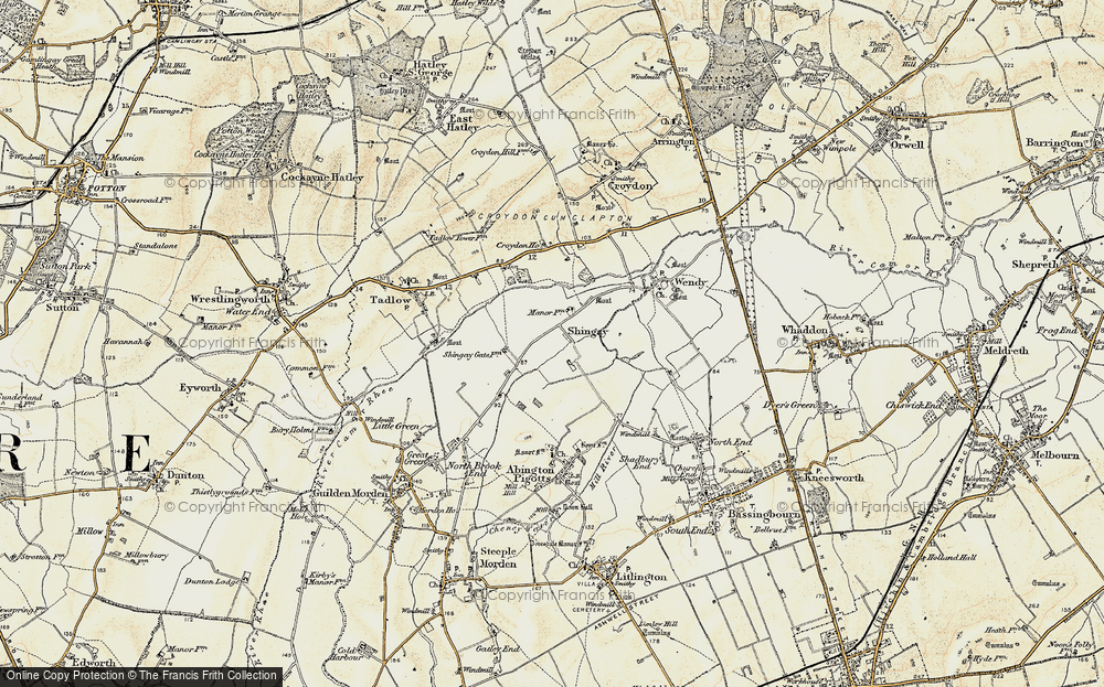 Old Map of Shingay, 1899-1901 in 1899-1901