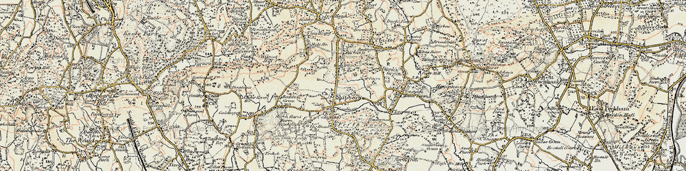 Old map of Shipbourne in 1897-1898