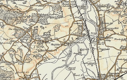 Old map of Shiplake in 1897-1909