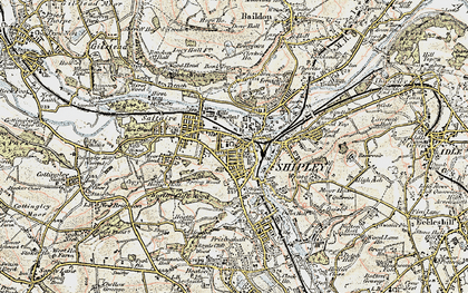 Old map of Shipley in 1903-1904