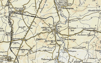 Old map of Shipston-on-Stour in 1899-1901