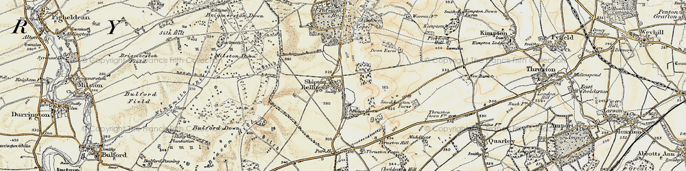 Old map of Althorne in 1897-1899
