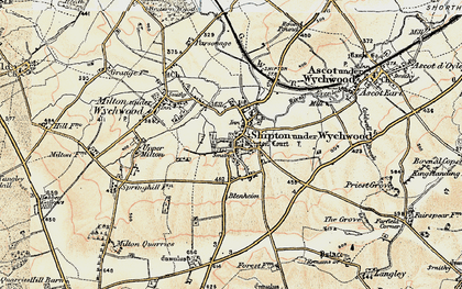 Old map of Shipton under Wychwood in 1898-1899