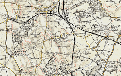 Old map of Shirebrook in 1902-1903