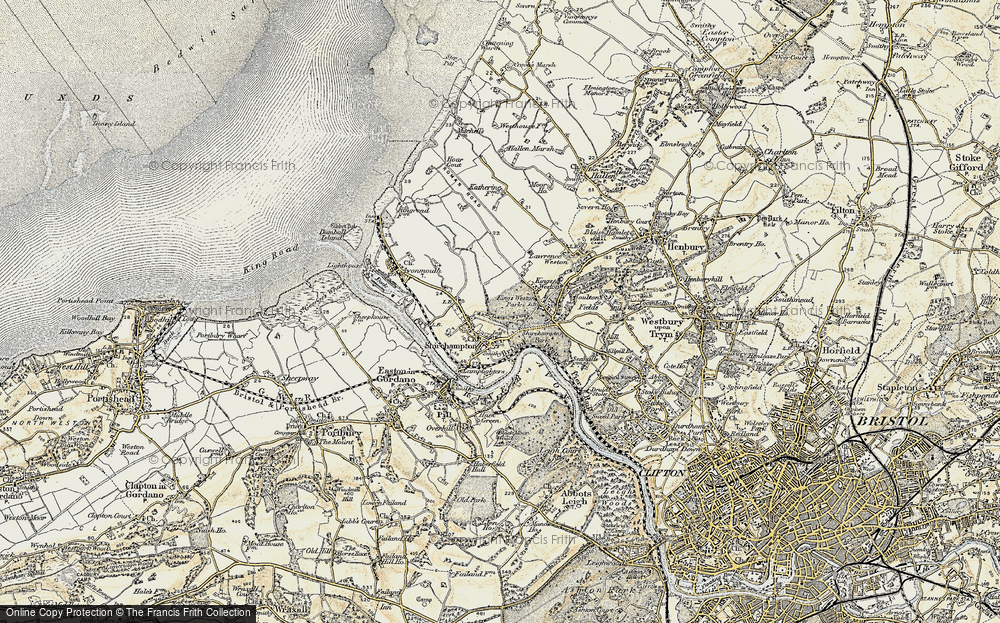 Old Map of Shirehampton, 1899 in 1899