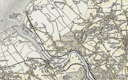 Old map of Shirehampton in 1899