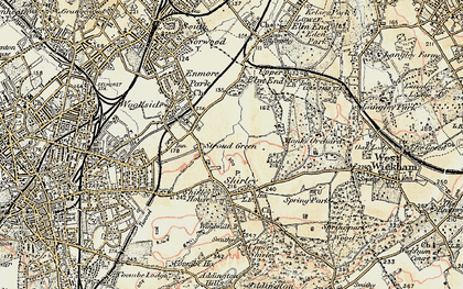 Old map of Shirley in 1897-1902