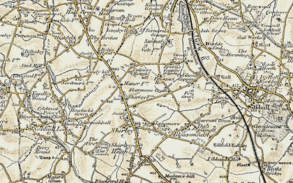 Old map of Shirley in 1901-1902