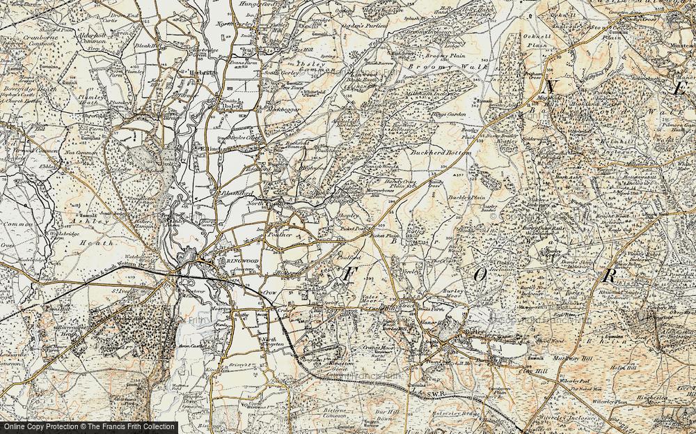 Old Map of Shobley, 1897-1909 in 1897-1909