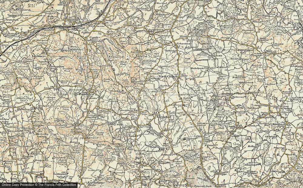 Old Map of Historic Map covering Abesters in 1897-1900