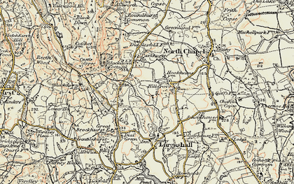 Old map of Abesters in 1897-1900