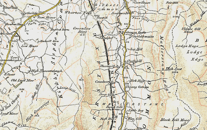 Old map of Wharton Fell in 1903-1904