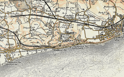 Old map of Shorncliffe Camp in 1898-1899