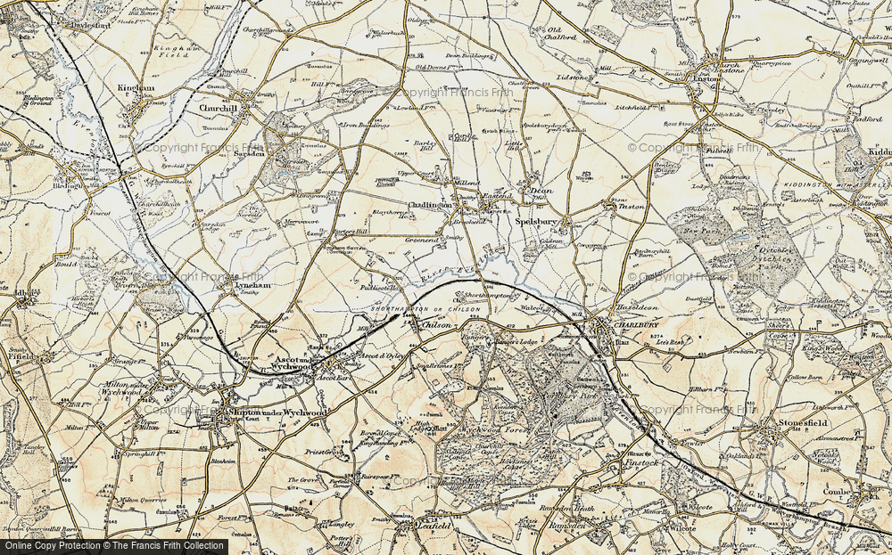 Old Map of Shorthampton, 1898-1899 in 1898-1899