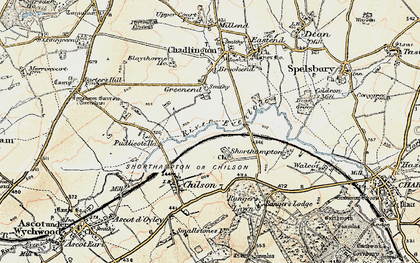 Old map of Shorthampton in 1898-1899