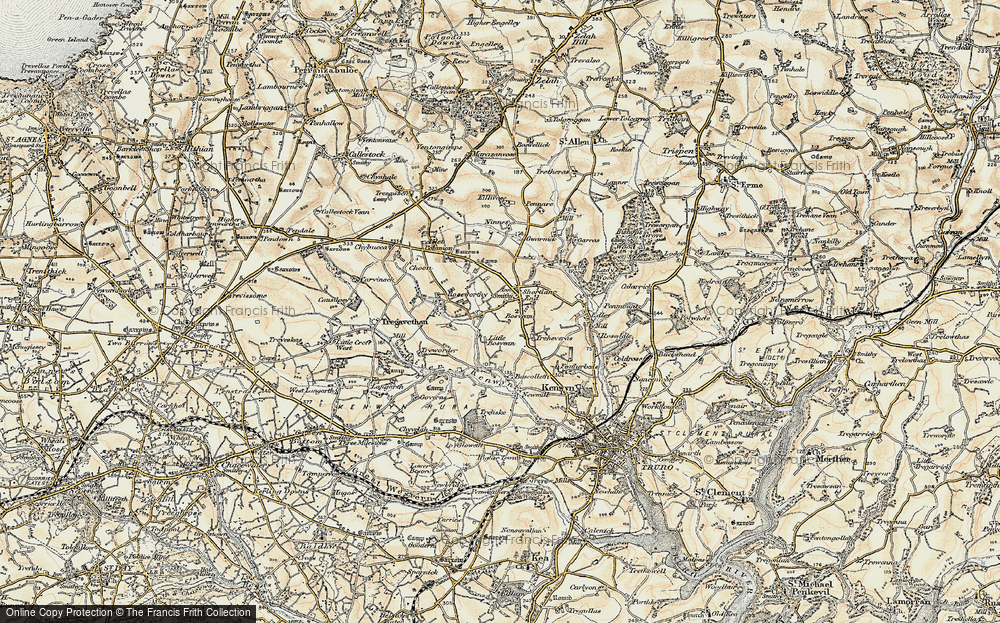 Old Map of Shortlanesend, 1900 in 1900
