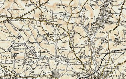 Old map of Shortlanesend in 1900