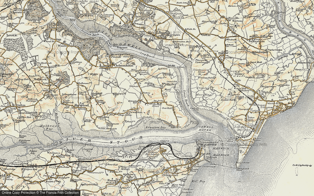 Old Map of Shotley, 1898-1901 in 1898-1901