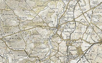 Old map of Shotley Bridge in 1901-1904