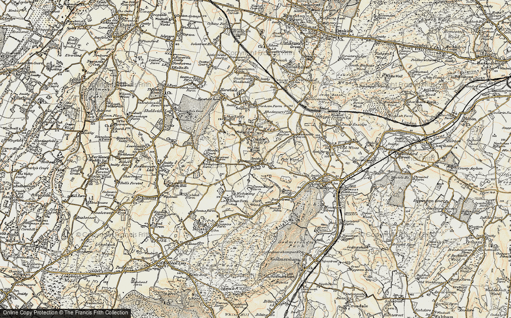 Old Map of Historic Map covering Woods Court in 1897-1898