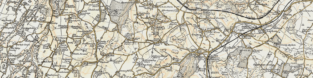 Old map of Woods Court in 1897-1898