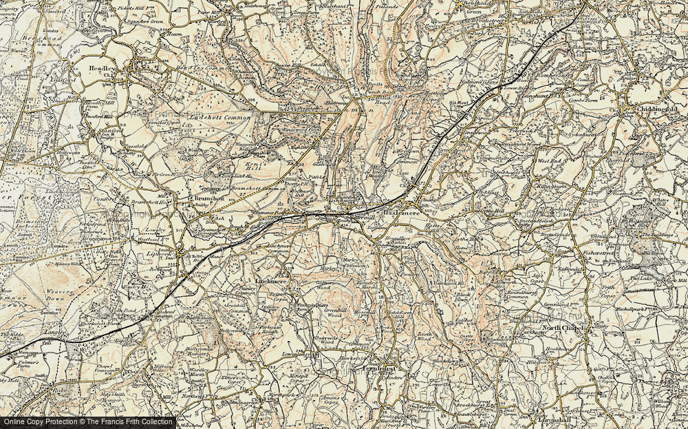 Old Map of Shottermill, 1897-1900 in 1897-1900