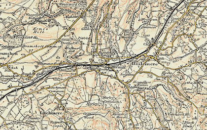 Old map of Shottermill in 1897-1900