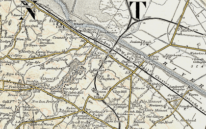 Old map of Shotton in 1902-1903