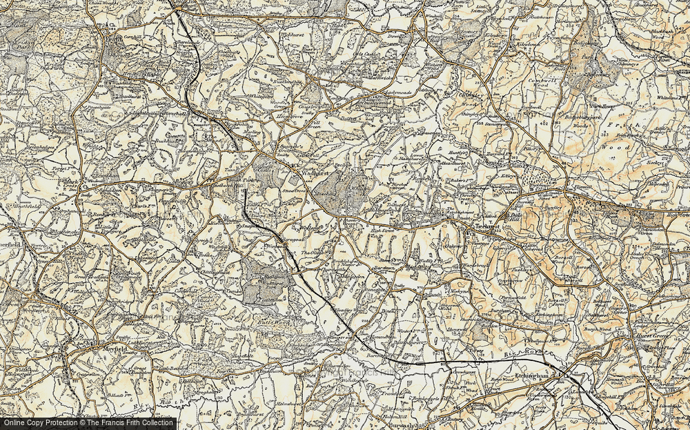 Old Map of Shover's Green, 1898 in 1898