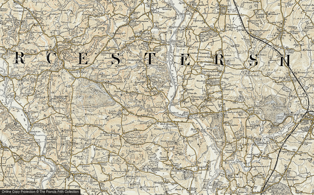 Old Map of Shrawley, 1899-1902 in 1899-1902