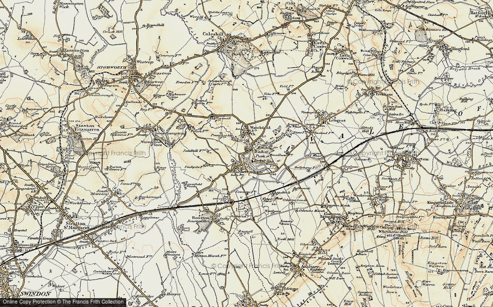 Old Map of Shrivenham, 1898-1899 in 1898-1899