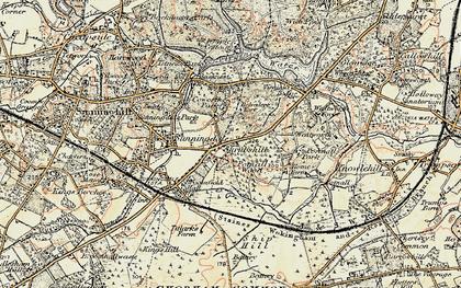 Old map of Wheatsheaf Hotel in 1897-1909