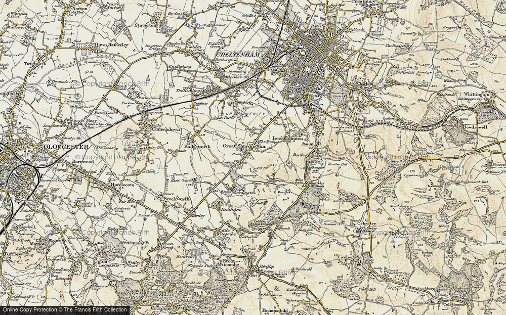 Old Map of Shurdington, 1898-1900 in 1898-1900