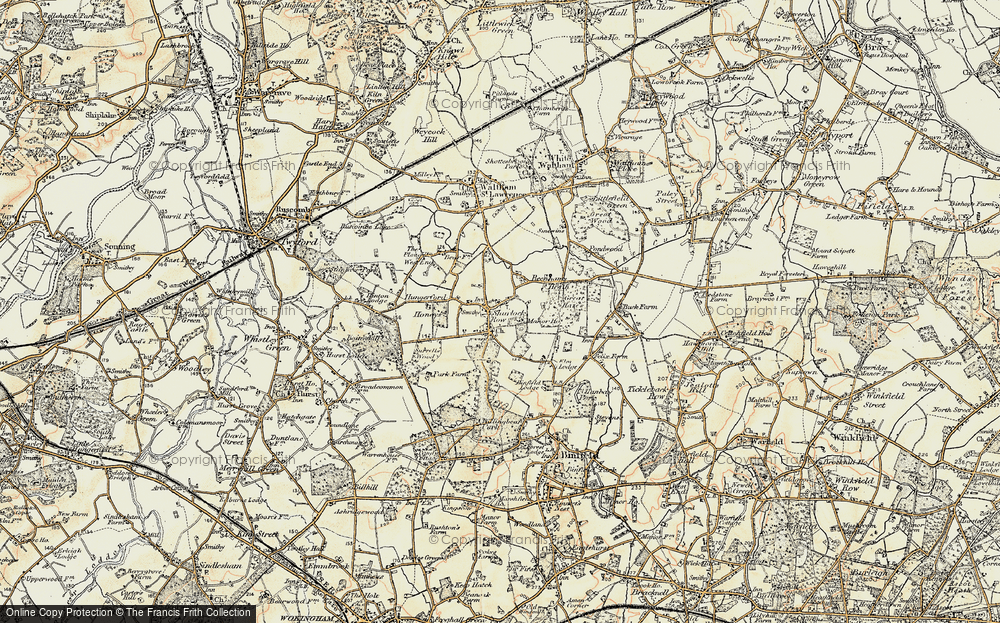 Old Map of Historic Map covering Allanbay Park in 1897-1909