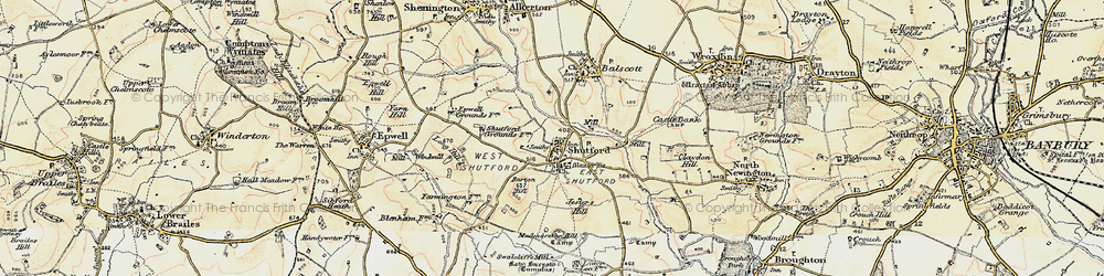 Old map of Alkerton Grounds in 1898-1901