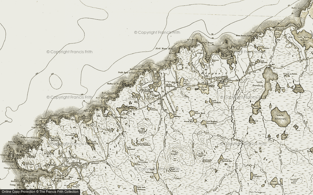 Old Map of Historic Map covering Allt Bhionasgro in 1911