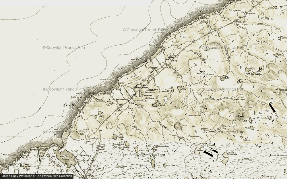 Old Map of Historic Map covering Àirigh an Tuim in 1911