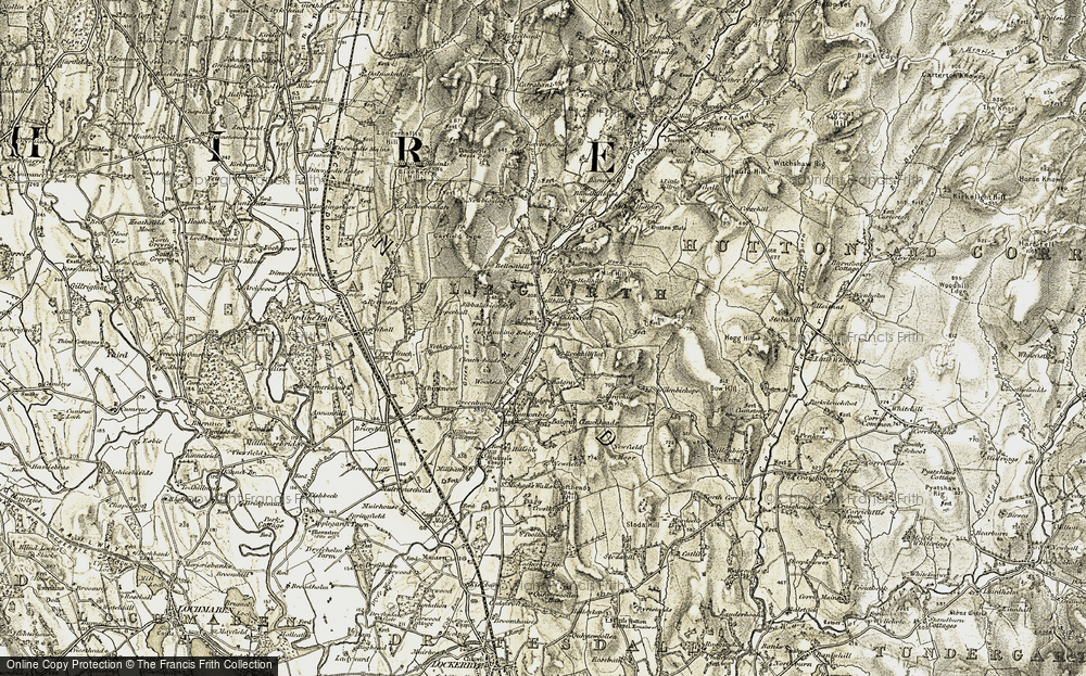 Old Map of Historic Map covering Balgrayhill in 1901-1904